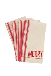 Mud Pie Merry Grainsack Napkins - Front cropped