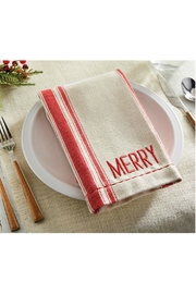 Mud Pie Merry Grainsack Napkins - Front full body