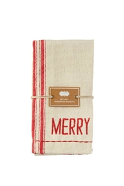 Mud Pie Merry Grainsack Napkins - Side cropped