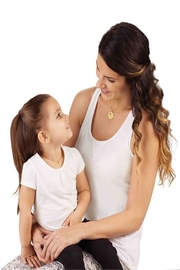 Mud Pie Mommy&Me Necklace Set - Front full body