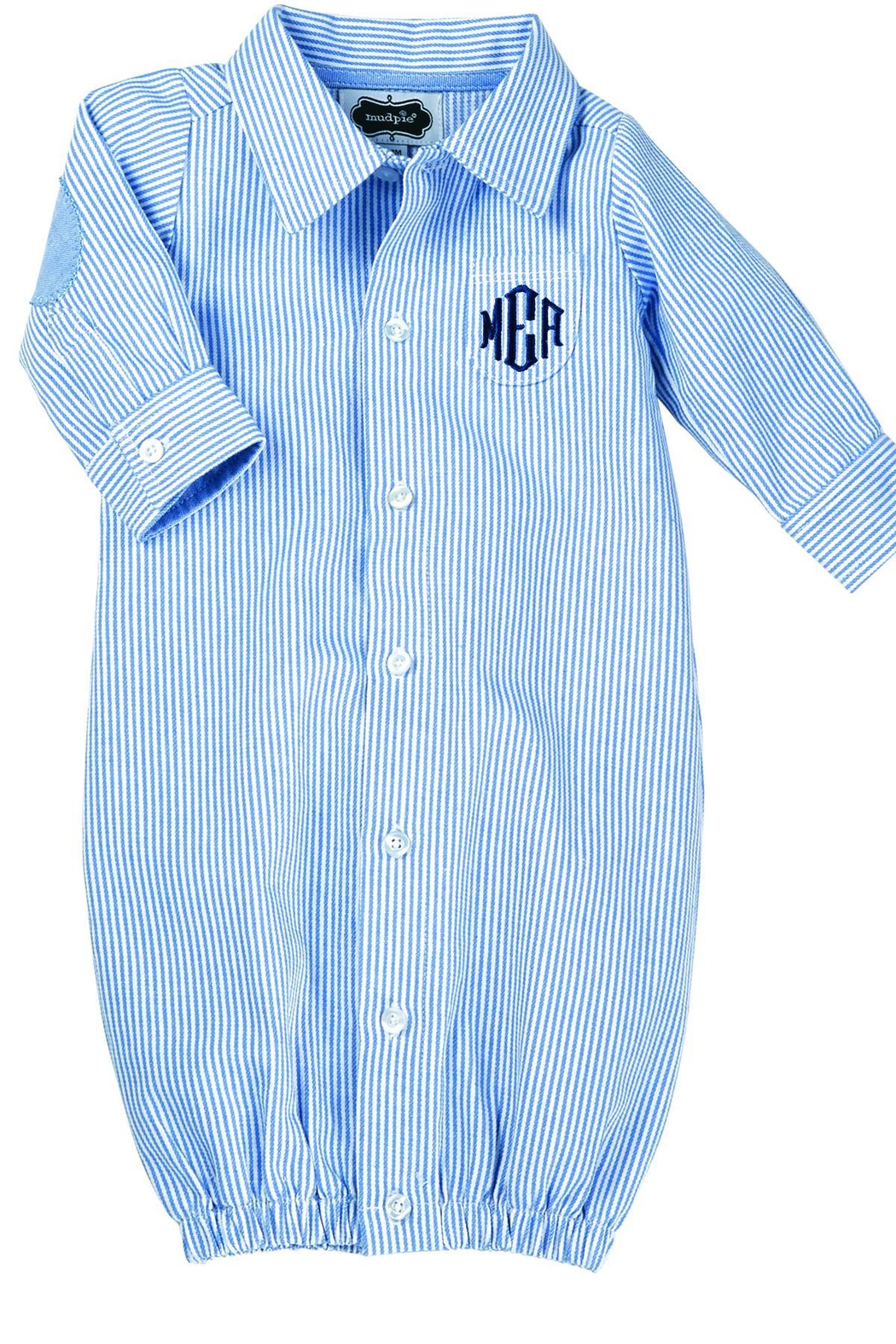 Mud Pie Monogrammed Oxford Gown From Florida By Leisa Lovely Designs