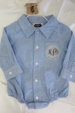 Shoptiques Product: Monogrammed Oxford One-Piece