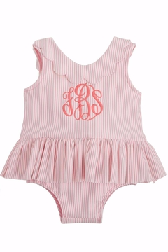 Shoptiques Product: Monogrammed Seersucker Swimsuit