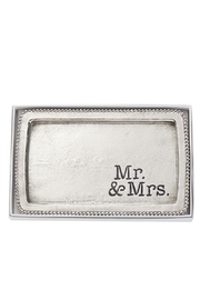Mud Pie Mr/Mrs Beaded Tray - Front cropped