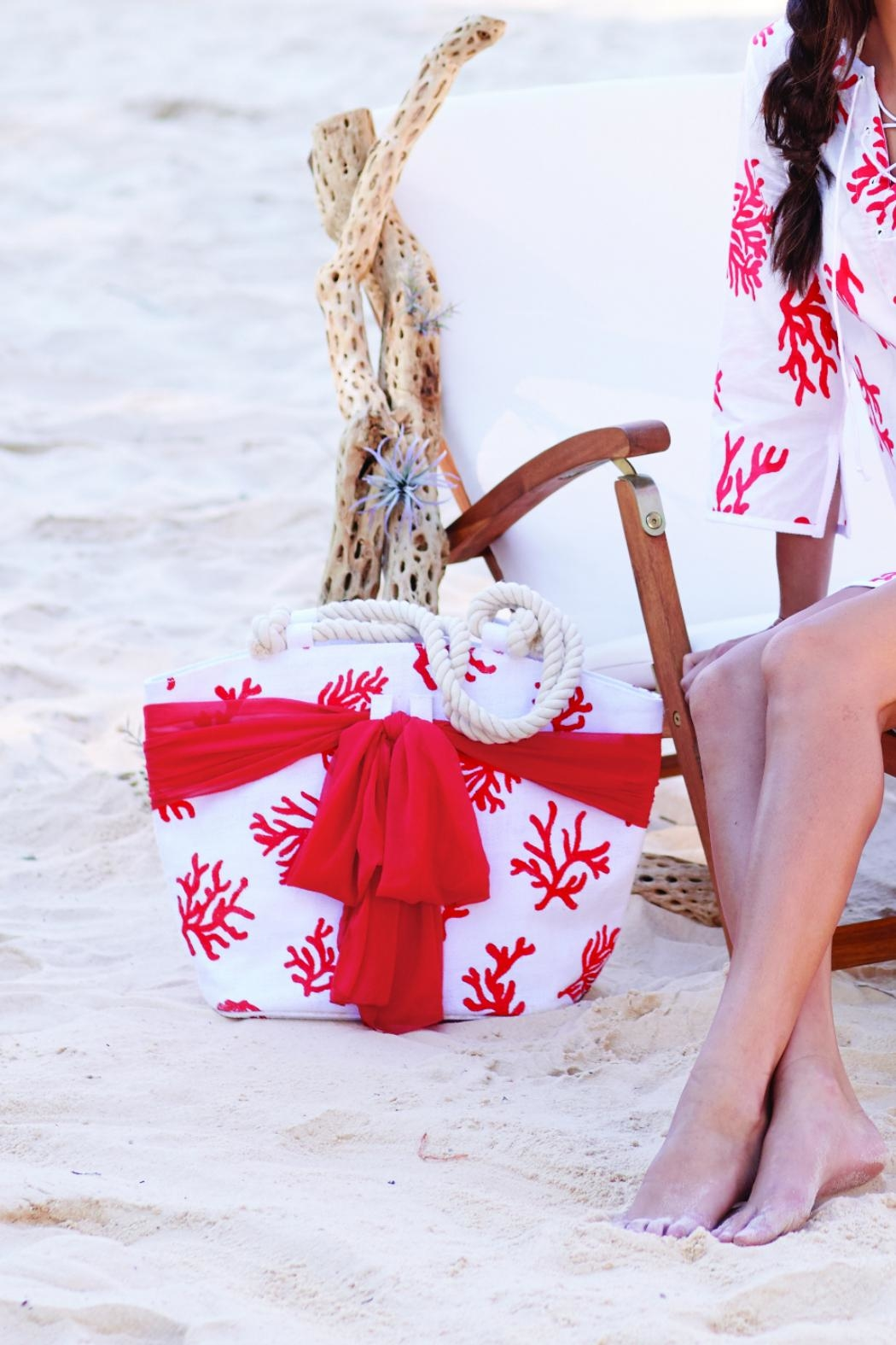Mud Pie Nautical Sarong-Along Tote - Front Cropped Image