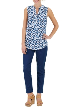 Mud Pie Navy Ikat Blouse - Product List Image