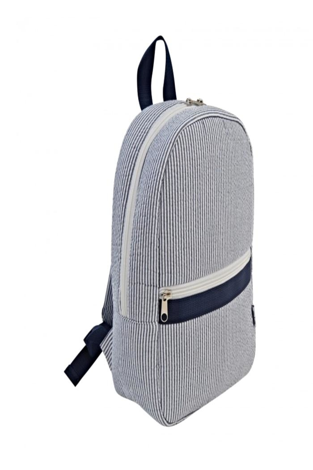 Mud Pie Navy Seersucker Backpack - Main Image