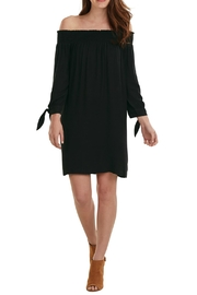 Mud Pie Off Shoulder Black Dress - Product Mini Image