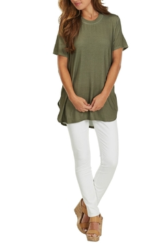 Shoptiques Product: Olive Jersey Tunic Top