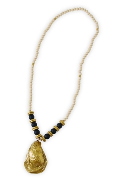 Shoptiques Product: Oyster-Shell Beaded Necklace