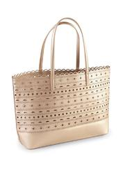 Mud Pie Perforated Gold Tote - Product Mini Image