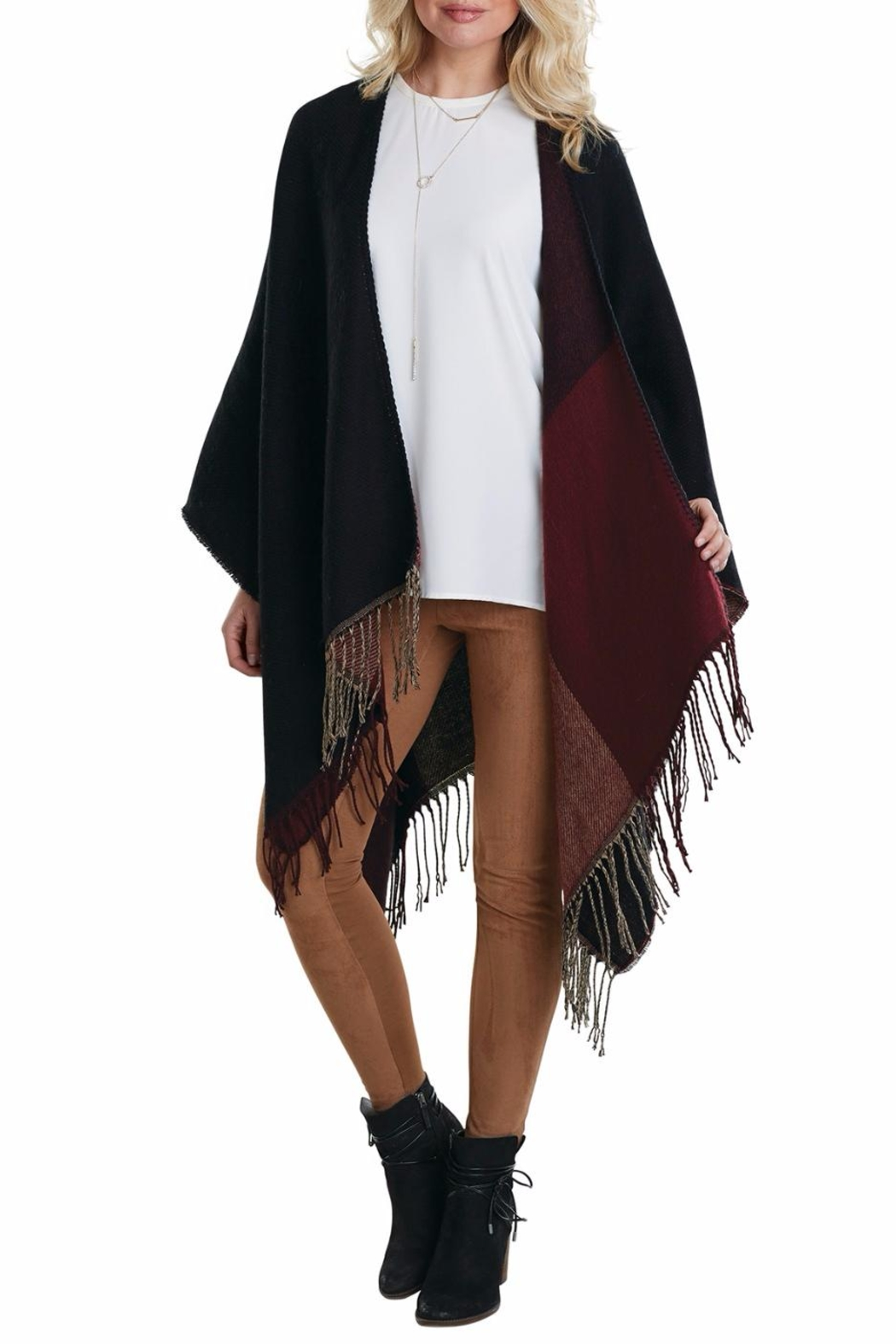 Mud Pie Phoenix Reversible Poncho - Front Full Image