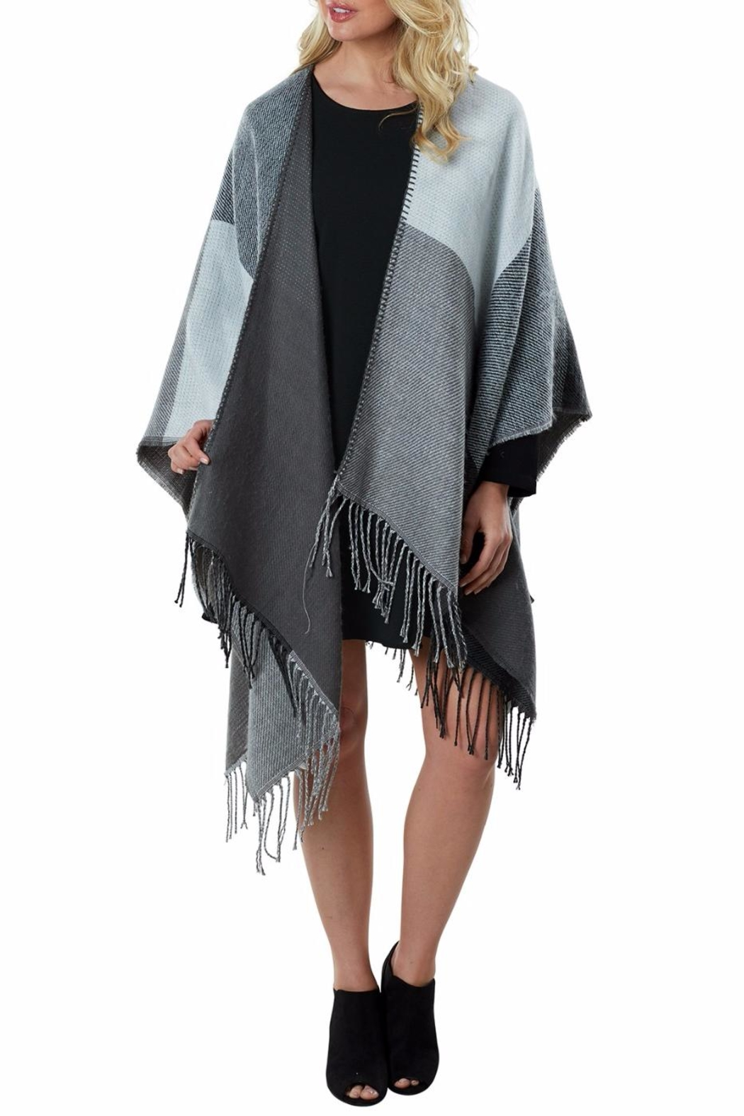 Mud Pie Phoenix Reversible Poncho - Front Cropped Image