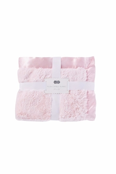 Mud Pie Pink Chenille Blanket - Product List Image
