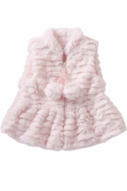 Mud Pie Pink Fur Vest - Front cropped