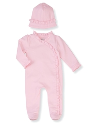 Mud Pie Pink Ruffle Set - Front cropped