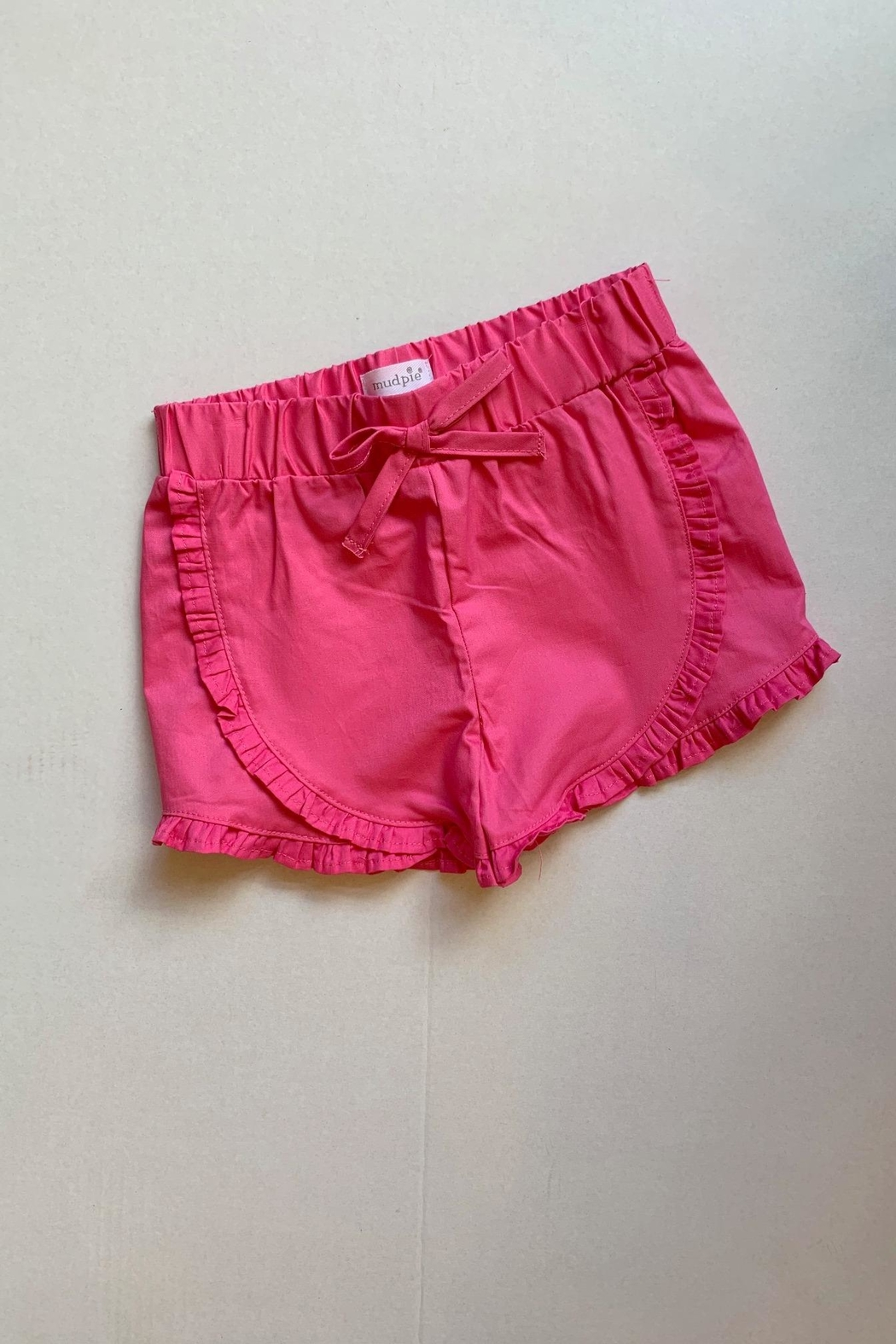 Mud Pie Pink Ruffle Shorts - Front Cropped Image