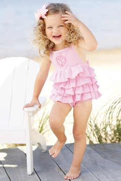 Mud Pie Pink Ruffle Swimsuit - Product List Image