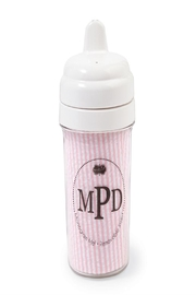 Mud Pie Pink Seersucker Sippy-Cup - Front cropped