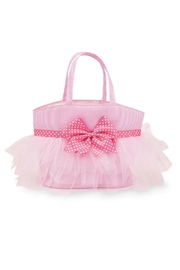 Mud Pie Pink Seersucker Tote - Front cropped