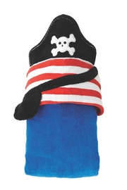 Mud Pie Pirate Hooded Towel - Front full body