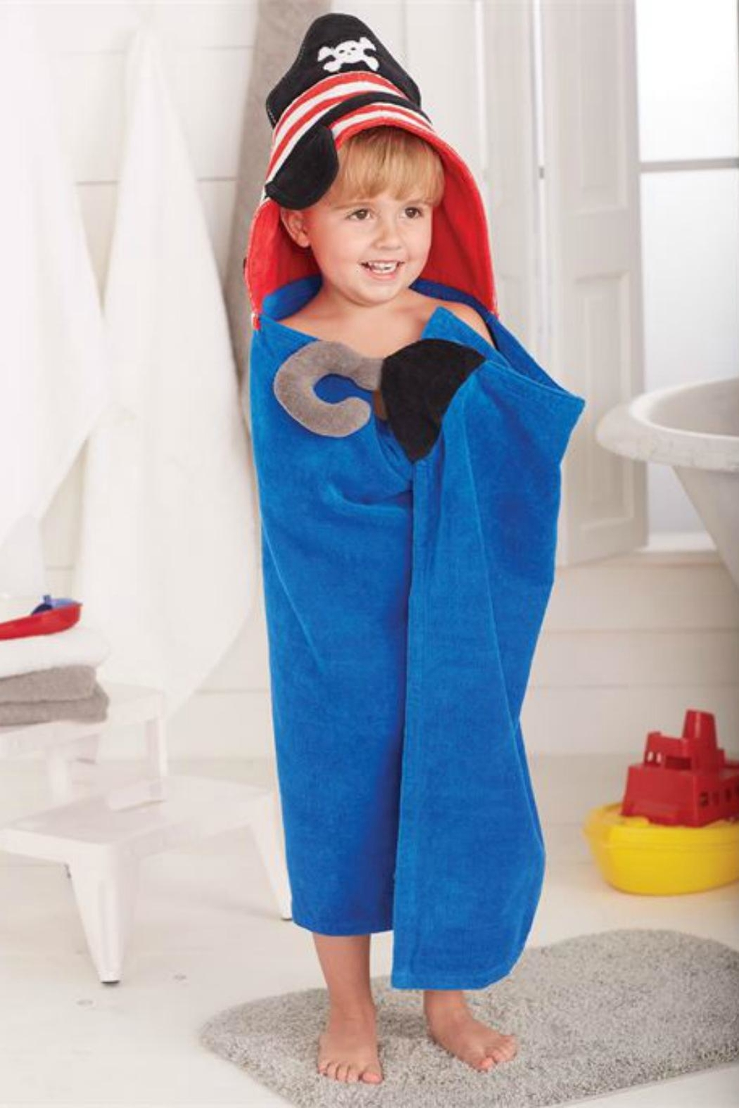 Mud Pie Pirate Hooded Towel - Main Image