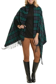 Mud Pie Plaid Scarf Wrap - Front cropped