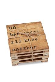 Mud Pie Plank Coasters - Product Mini Image