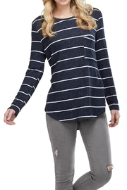 Mud Pie Pocket Long-Sleeve Tee - Product Mini Image