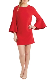 Mud Pie Poinsettia Bell-Sleeve Dress - Product Mini Image