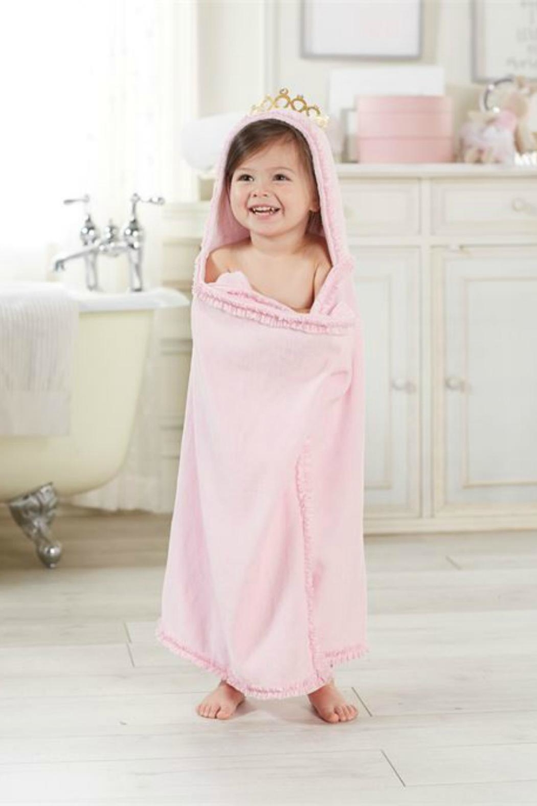 Mud Pie Princess-Crown Hooded Towel - Main Image