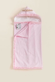 Mud Pie Princess-Crown Hooded Towel - Front full body