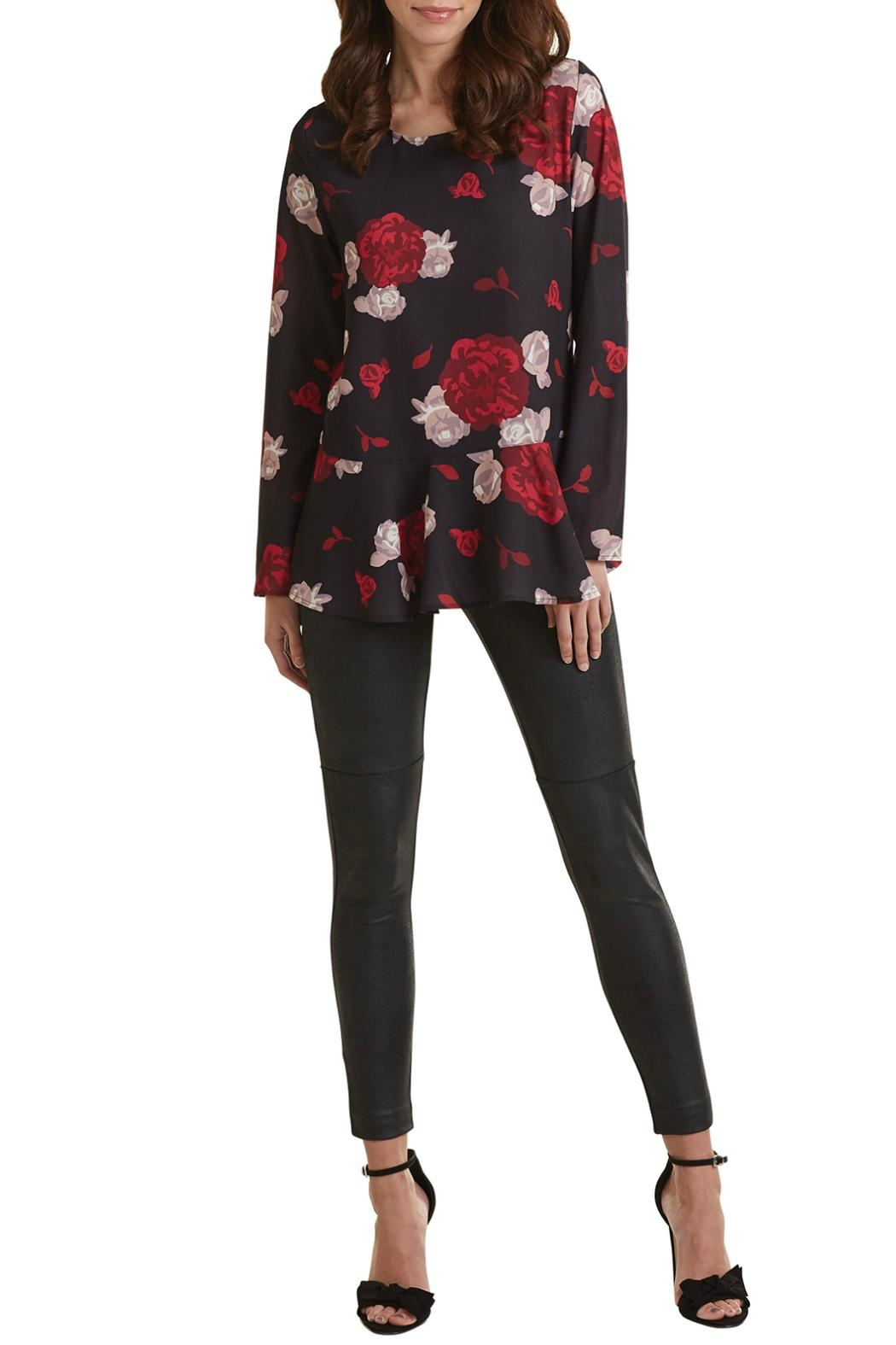 Mud Pie Printed Flounce Top - Front Cropped Image