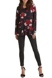 Mud Pie Printed Flounce Top - Front cropped