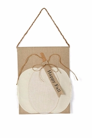 Mud Pie Pumpkin Door Hanger - Product Mini Image