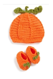 Mud Pie Pumpkin Hat Booties - Front cropped
