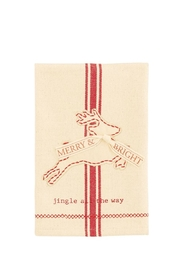 Mud Pie Reindeer Towel - Front cropped