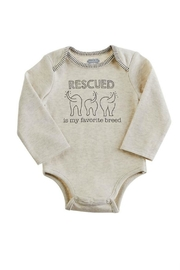 Mud Pie Rescued Cotton Onsie - Front cropped