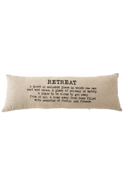 Mud Pie Retreat Pillow - Front cropped