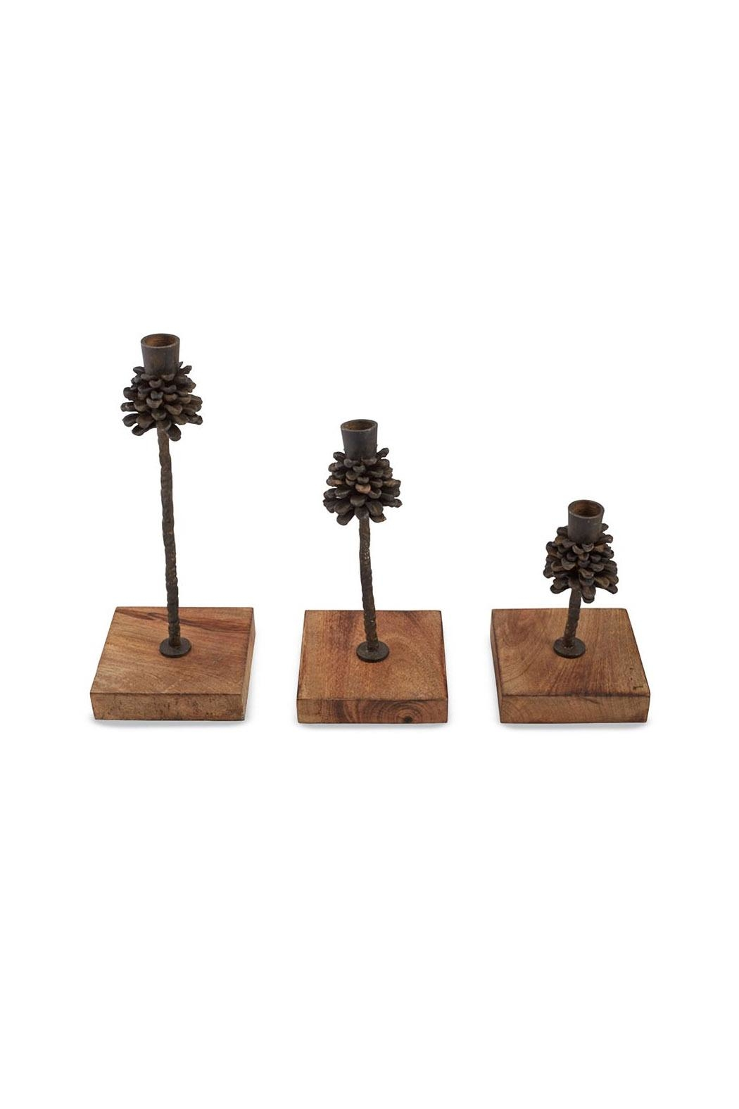 Mud Pie Rustic Candle Stick Set - Main Image