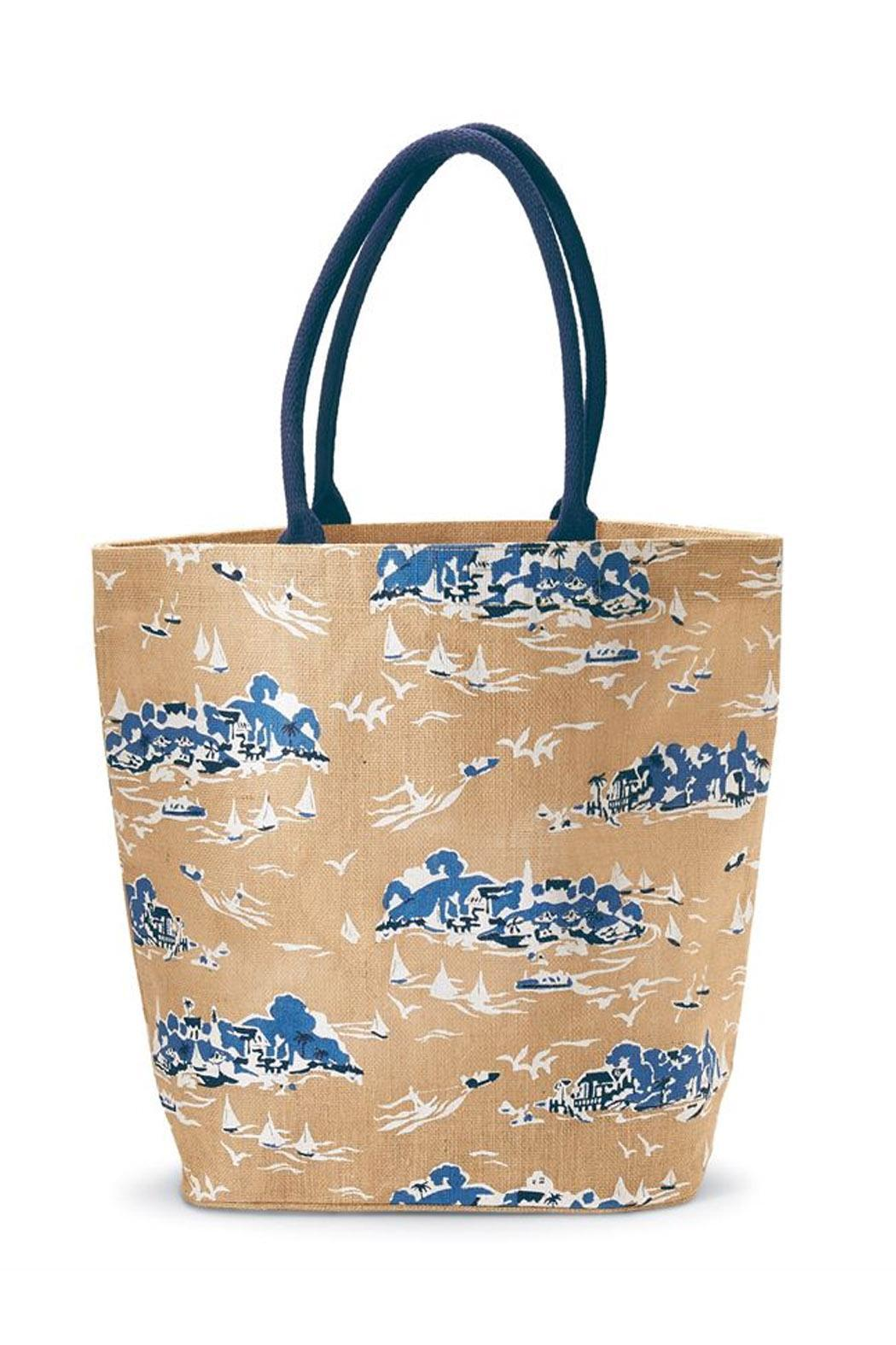 Mud Pie Sailboat Tote - Front Cropped Image