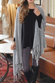 Mud Pie Sequin Wrap Scarf - Front cropped