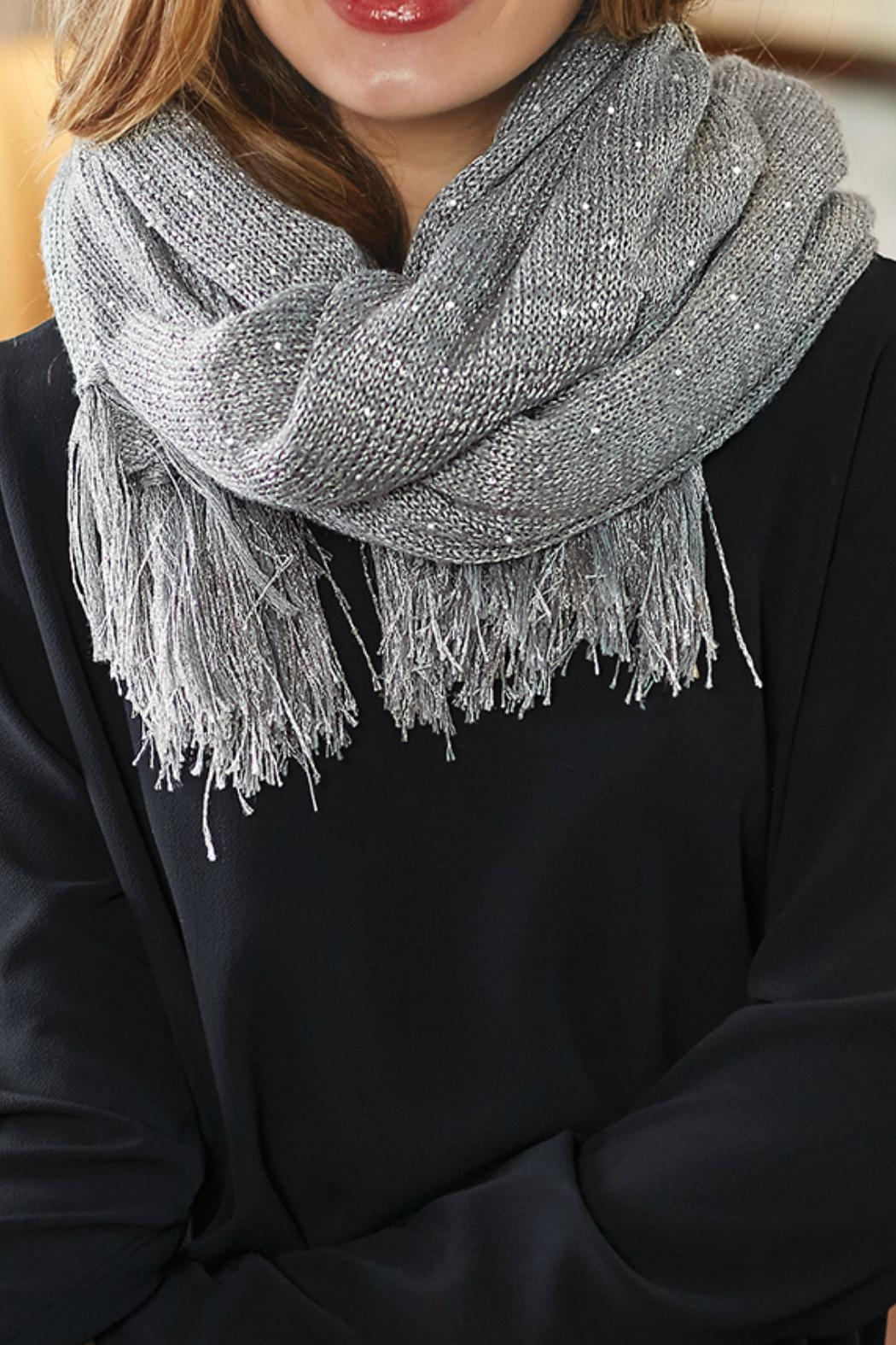 Mud Pie Sequin Wrap Scarf - Front Full Image
