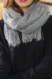 Mud Pie Sequin Wrap Scarf - Front full body