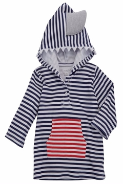 Shoptiques Product: Shark Hooded Cover-Up
