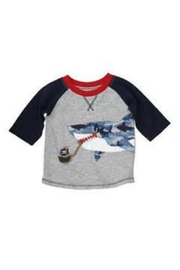 Mud Pie Shark Tee - Front cropped