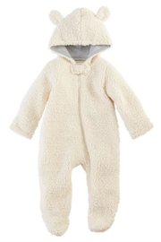 Mud Pie Sherpa Bear Bunting Suit - Front cropped