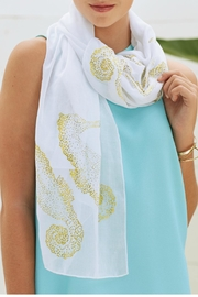 Mud Pie Shimmer Seahorse Scarf - Front cropped