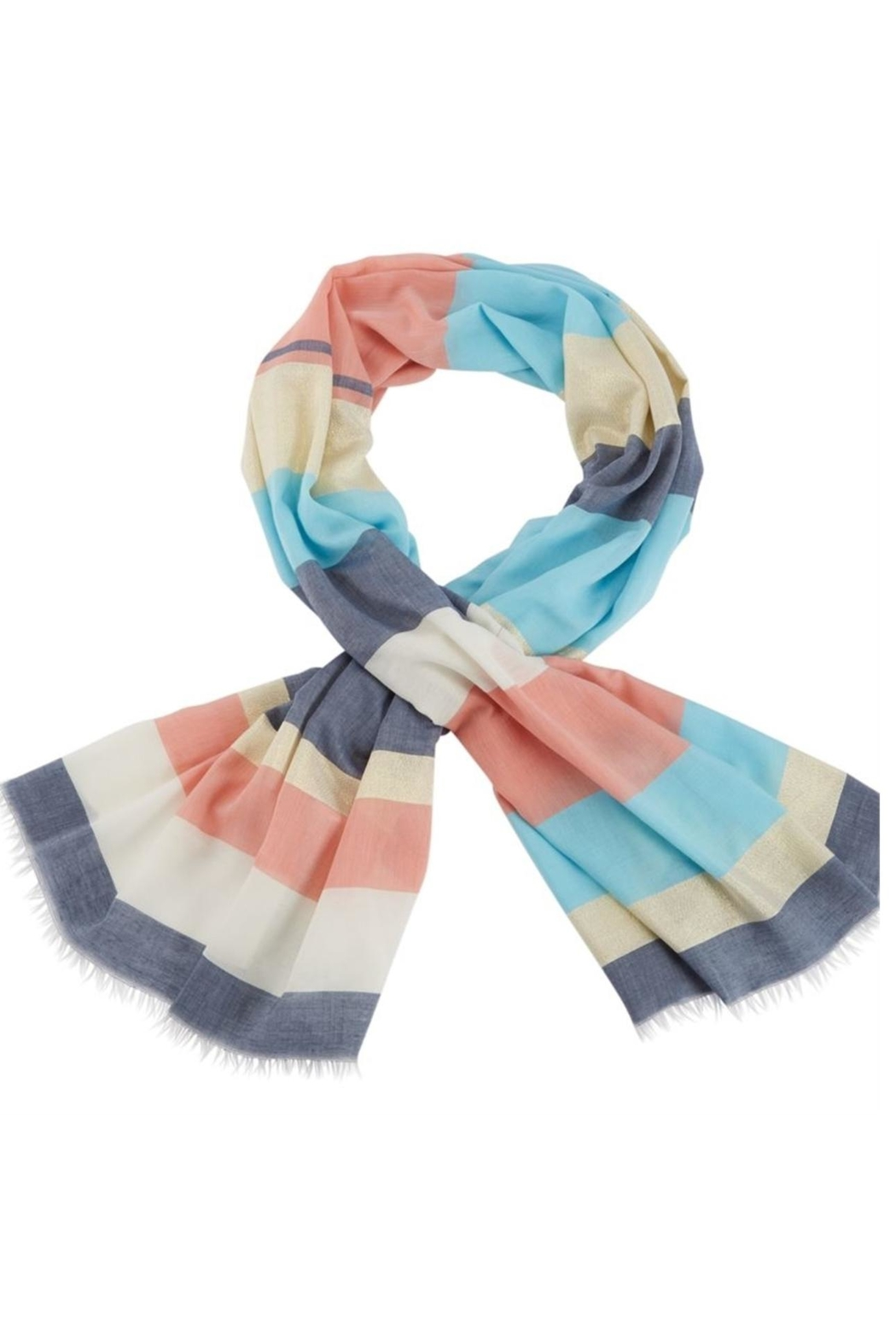 Mud Pie Shimmer Striped Scarf - Front Cropped Image
