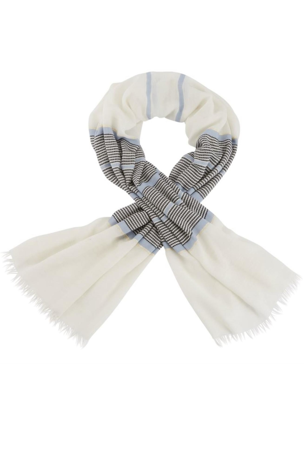 Mud Pie Shimmer Striped Scarf - Main Image